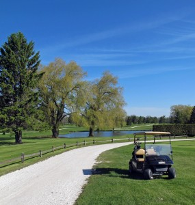 Golfers compete on 45 holes, not including the mini golf course.
